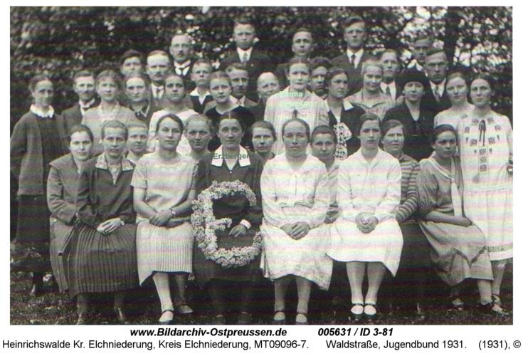 Heinrichswalde, Waldstraße, Jugendbund 1931