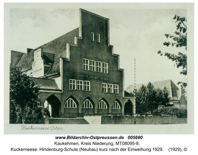 Kuckerneese. Hindenburg-Schule (Neubau) kurz nach der Einweihung 1929