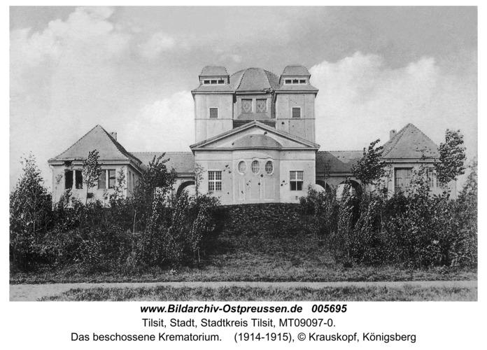 Tilsit, Das beschossene Krematorium