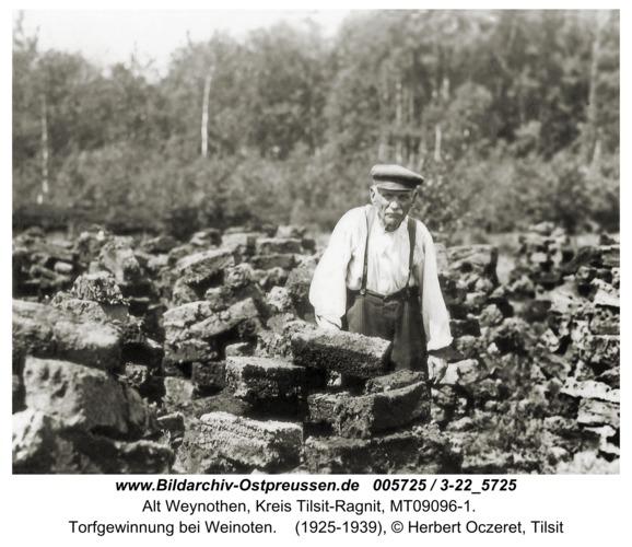 Weinoten, Torfgewinnung bei Weinoten