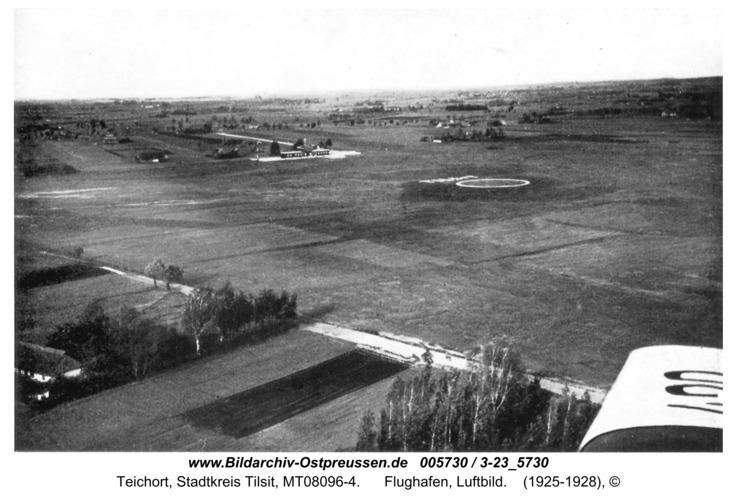 Tilsit-Teichort, Flughafen, Luftbild