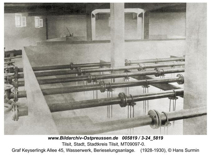 Tilsit, Graf Keyserlingk Allee 45, Wasserwerk, Berieselungsanlage