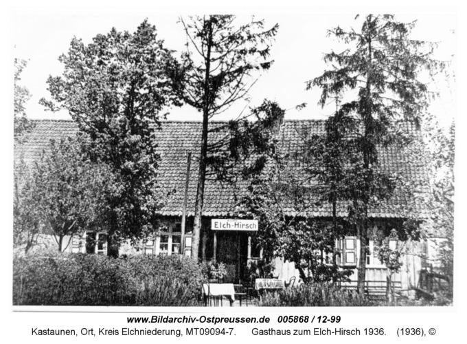 Kastaunen, Gasthaus zum Elch-Hirsch 1936