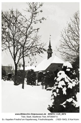 Tilsit, Ev. Kapellen-Friedhof am Kapellenweg, Friedhofskapelle