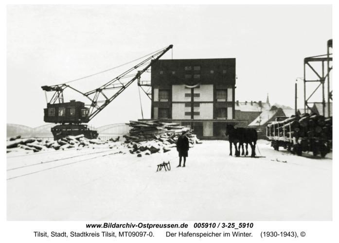 Tilsit, Der Hafenspeicher im Winter