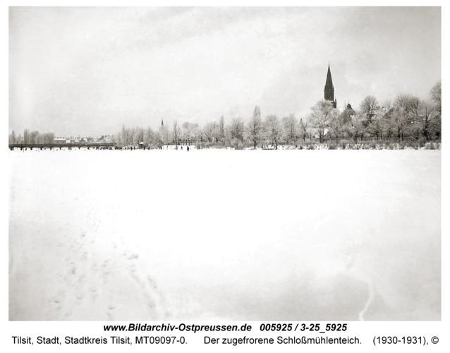 Tilsit, Der zugefrorene Schloßmühlenteich