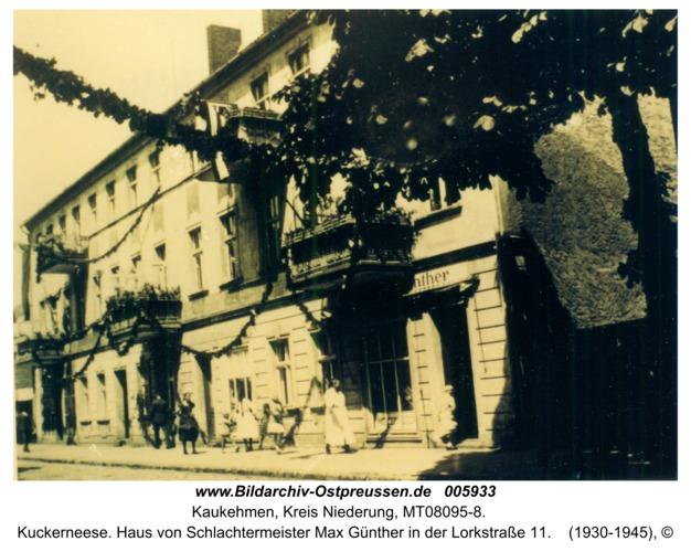 Kuckerneese. Haus von Schlachtermeister Max Günther in der Lorkstraße 11