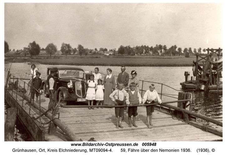 Grünhausen, 59, Fähre über den Nemonien 1936
