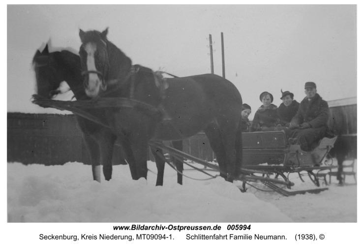 Seckenburg, Schlittenfahrt Familie Neumann