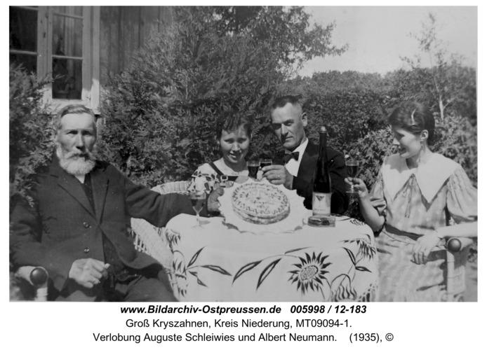 Seckenburg, Verlobung Auguste Schleiwies und Albert Neumann
