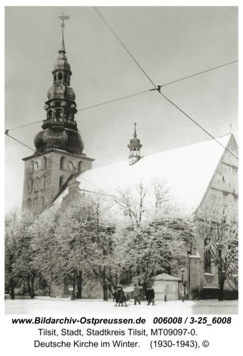 Tilsit, Deutsche Kirche im Winter