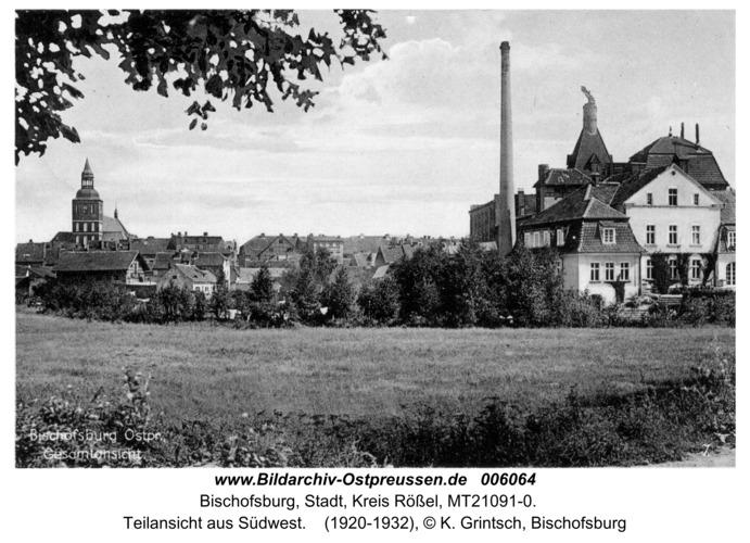 Bischofsburg, Teilansicht aus Südwest