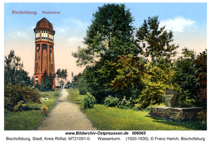Bischofsburg, Wasserturm