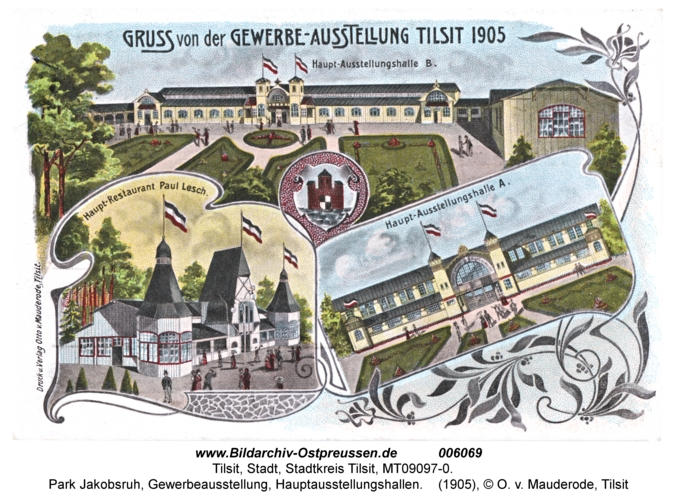 Tilsit, Park Jakobsruh, Gewerbeausstellung, Hauptausstellungshallen