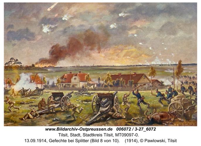 Tilsit, 13.09.1914, Gefechte bei Splitter (Bild 8 von 10)