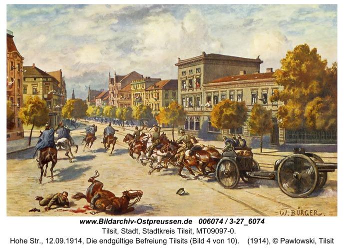Tilsit, Hohe Str., 12.09.1914, Die endgültige Befreiung Tilsits (Bild 4 von 10)