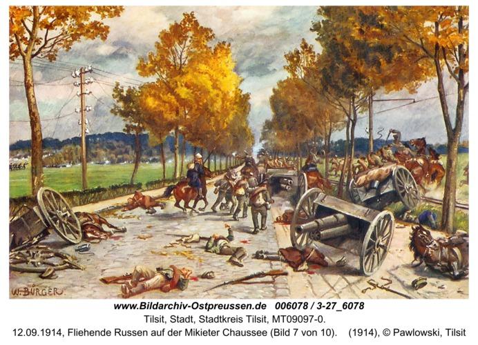 Tilsit, 12.09.1914, Fliehende Russen auf der Mikieter Chaussee (Bild 7 von 10)