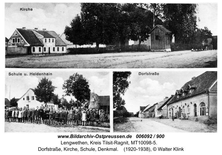 Hohensalzburg, Dorfstraße, Kirche, Schule, Denkmal