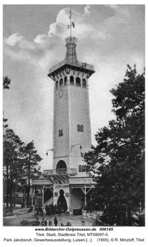 Tilsit, Park Jakobsruh, Gewerbeausstellung, Luisen-Turm