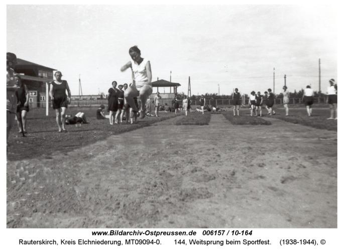 Rauterskirch, 144, Weitsprung beim Sportfest