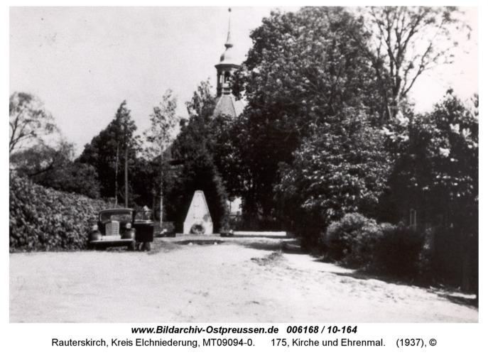 Rauterskirch, 175, Kirche und Ehrenmal