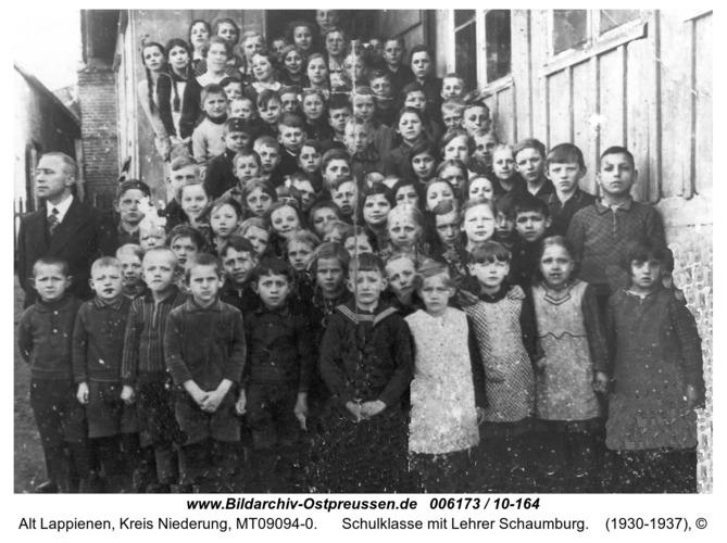 Rauterskirch, Schulklasse mit Lehrer Schaumburg