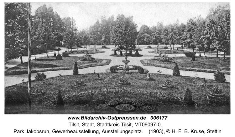 Tilsit, Park Jakobsruh, Gewerbeausstellung, Ausstellungsplatz