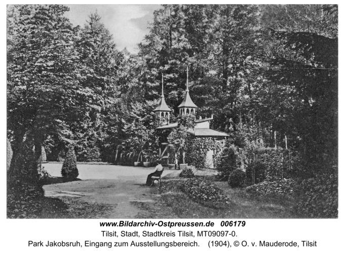 Tilsit, Park Jakobsruh, Eingang zum Ausstellungsbereich