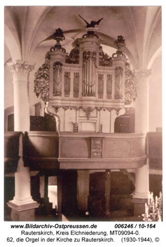 Rauterskirch, 62, die Orgel in der Kirche zu Rauterskirch