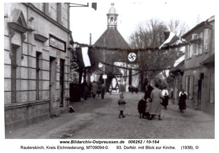 Rauterskirch, 93, Dorfstr. mit Blick zur Kirche