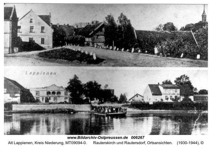 Lappienen, Rauterskirch und Rautersdorf, Ortsansichten