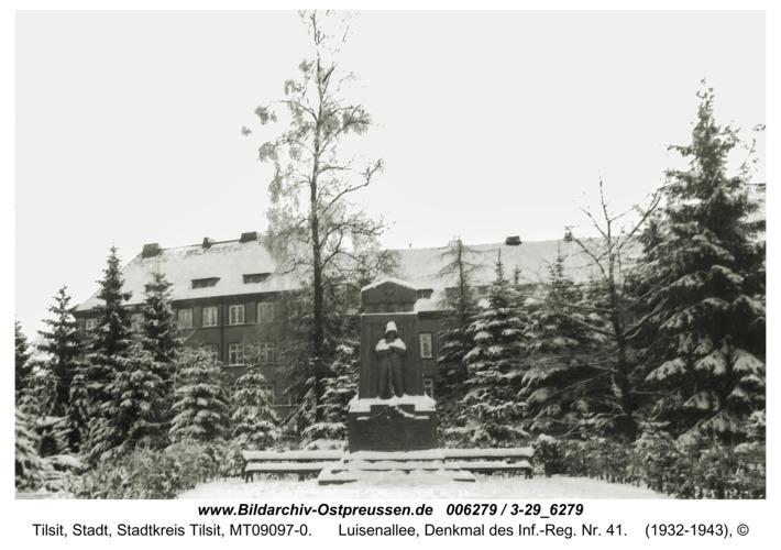Tilsit, Luisenallee, Denkmal des Inf.-Reg. Nr. 41