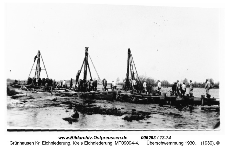 Grünhausen, Überschwemmung 1930