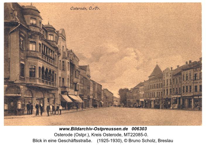 Osterode, Blick in eine Geschäftsstraße