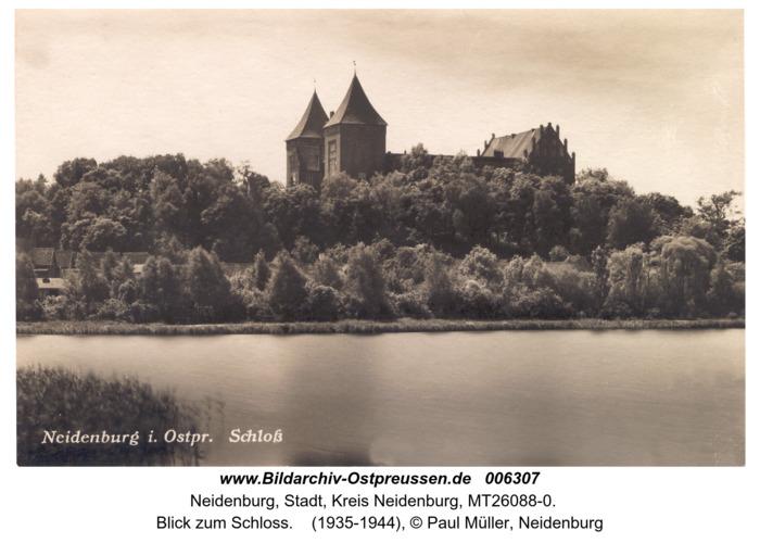Neidenburg, Blick zum Schloss