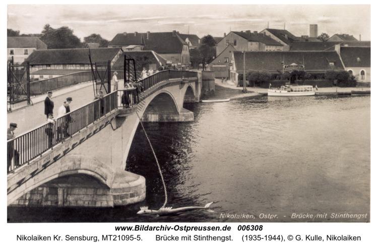Nikolaiken, Brücke mit Stinthengst