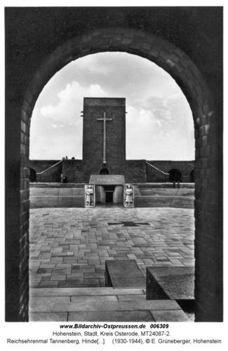 Hohenstein Kr. Osterode, Reichsehrenmal Tannenberg, Hindenburgturm