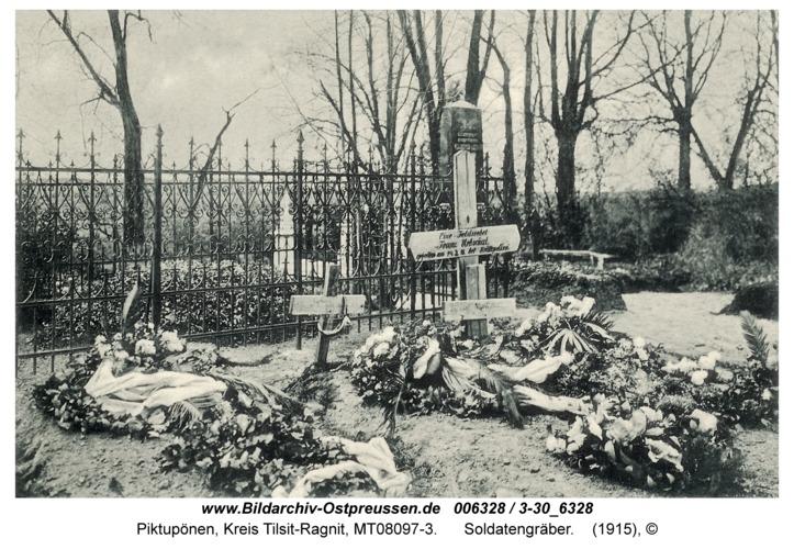 Piktupönen, Soldatengräber