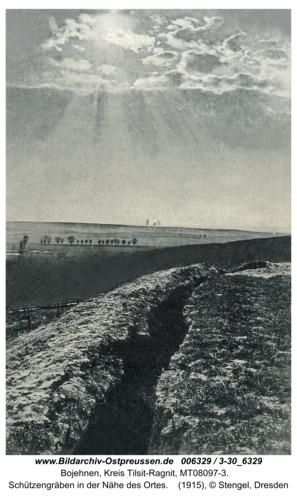 Bojehnen, Schützengräben in der Nähe des Ortes