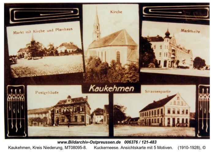 Kuckerneese. Ansichtskarte mit 5 Motiven