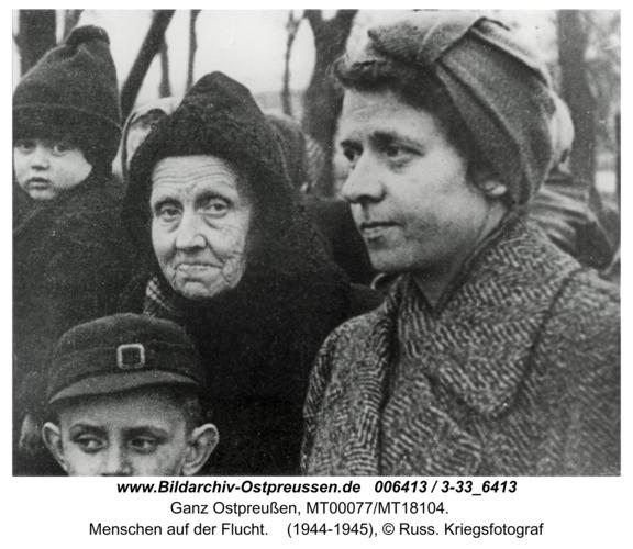 Ostpreußen, Menschen auf der Flucht