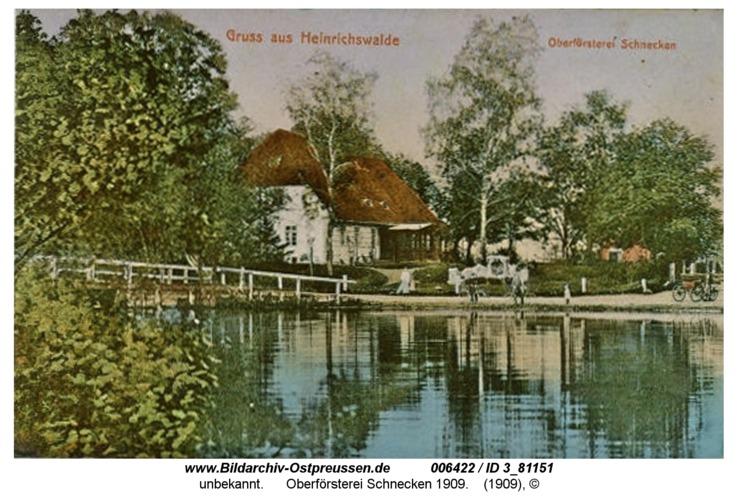 Neusorge, Oberförsterei Schnecken 1909