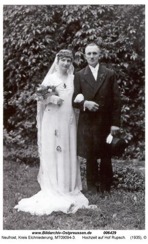 Neufrost, Hochzeit auf Hof Rupsch