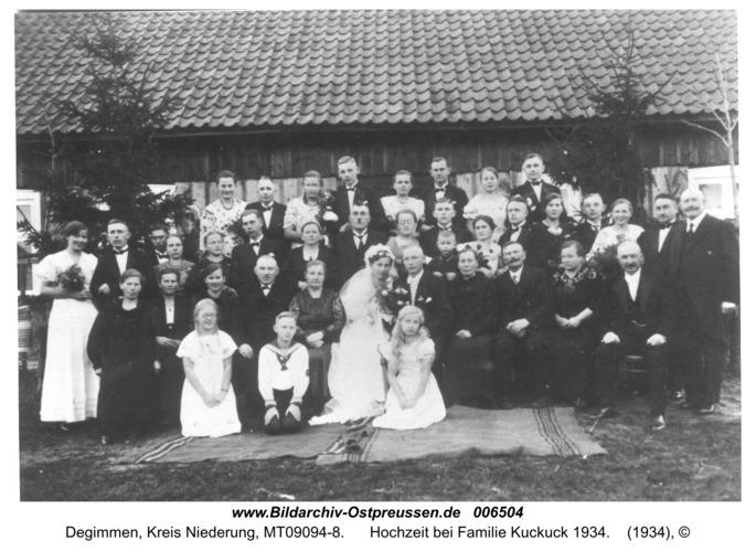 Degimmen, Hochzeit bei Familie Kuckuck 1934