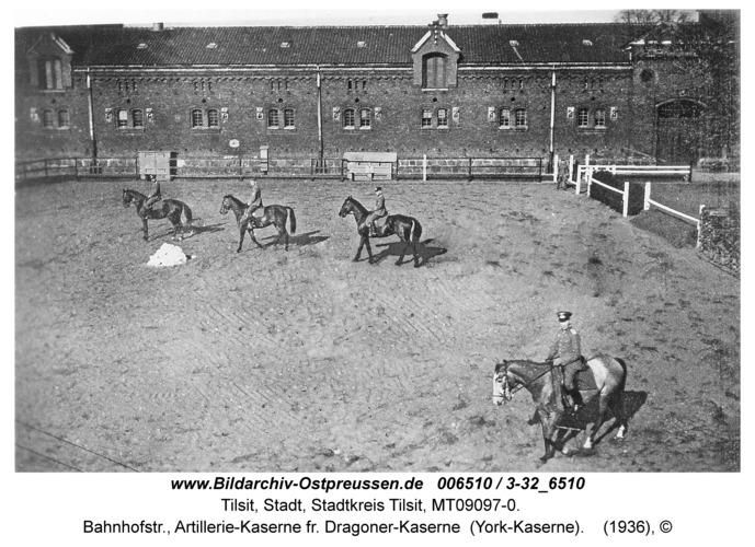 Tilsit, Bahnhofstr., Artillerie-Kaserne fr. Dragoner-Kaserne (York-Kaserne)