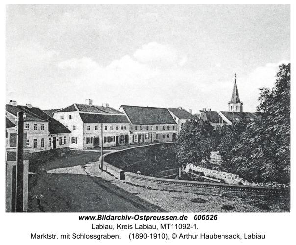 Labiau, Marktstr. mit Schlossgraben