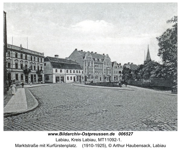 Labiau, Marktstraße mit Kurfürstenplatz