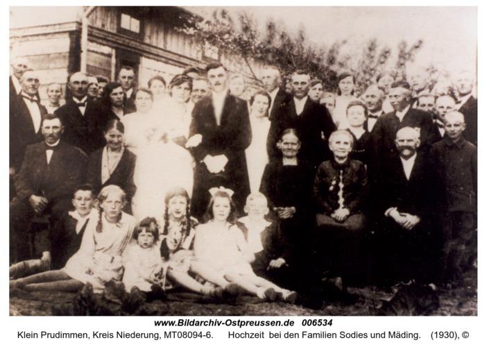 Klein Prudimmen, Hochzeit  bei den Familien Sodies und Mäding