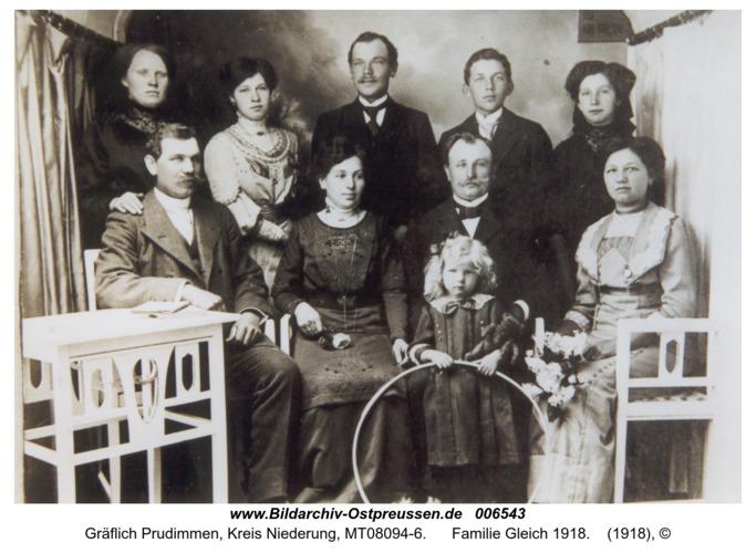 Gräflich Prudimmen, Familie Gleich 1918