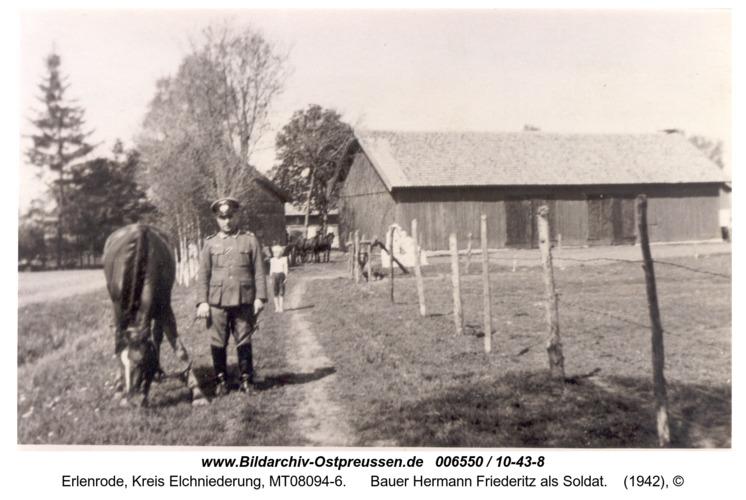 Erlenrode, Bauer Hermann Friederitz als Soldat